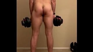 Brother sister naked workout